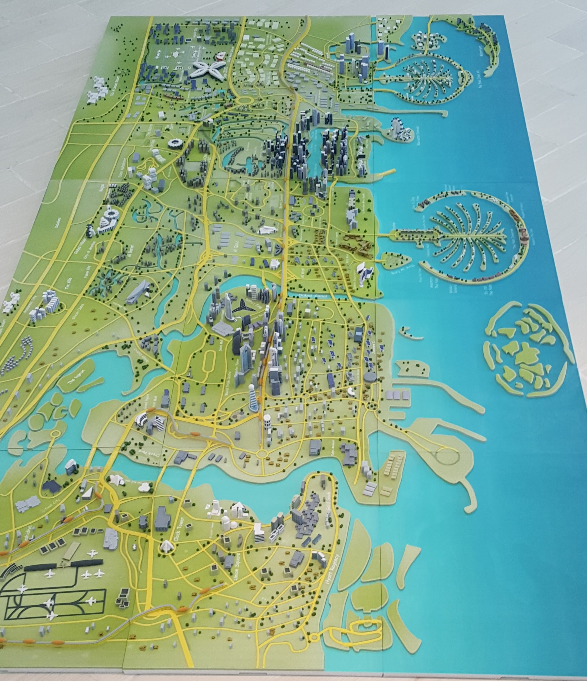 3d printed map dubai color generation 3dgeneration 3d 3d printed map dubai color gumiabroncs Gallery