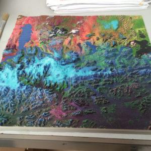 3D Printed Geospacial Map
