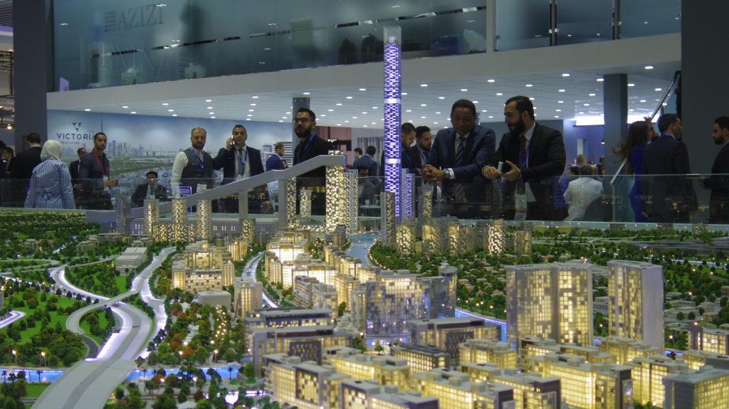 Architectural model dubai Cityscape