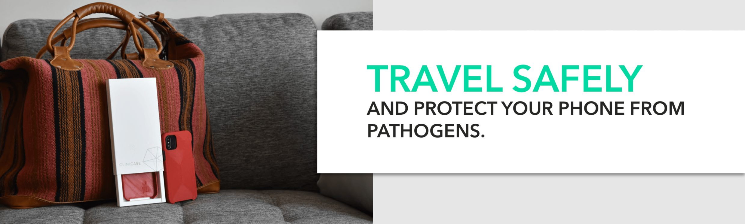 Clini case antiviral Phonecases to protect from pathogens