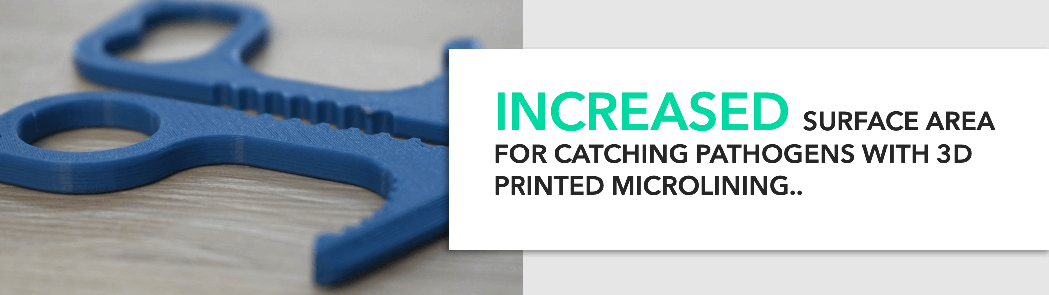 Antiviral contactless keyring 3D Printed